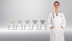 Doctor-with-empty-waiting-room